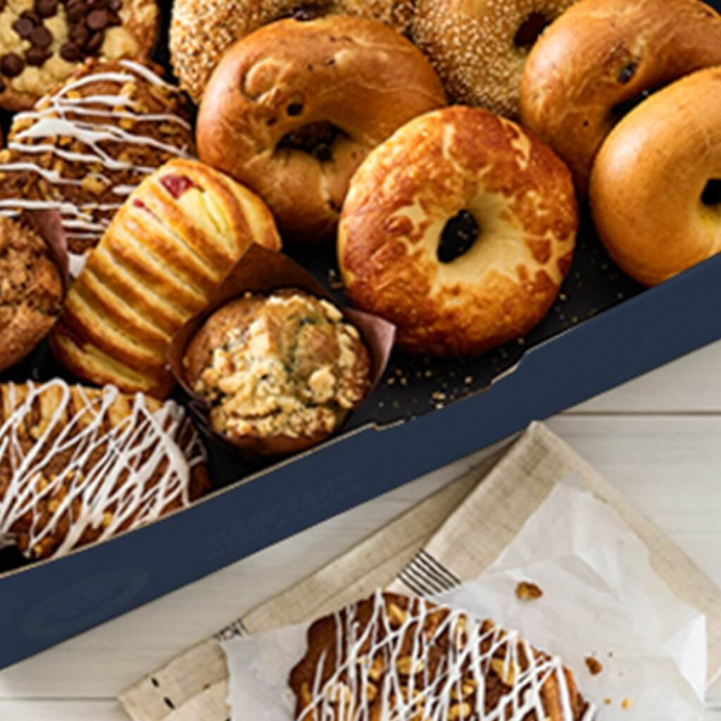 image of a box of sweets and pastries from Noah's NY Bagels