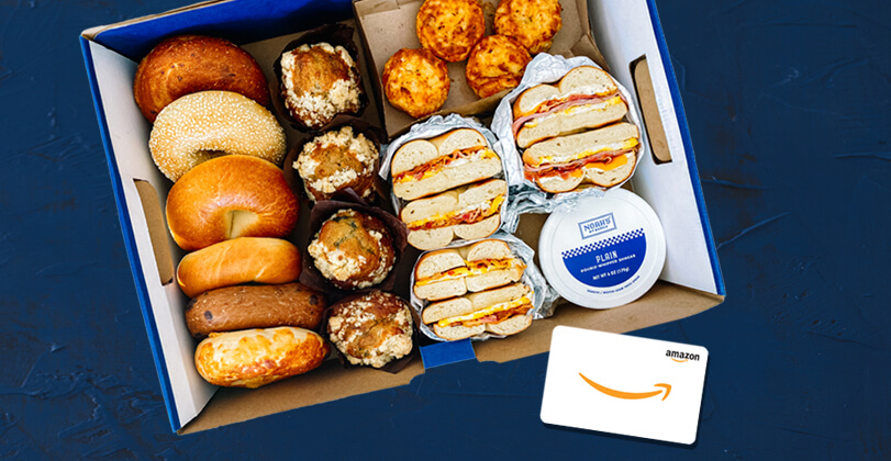 Get an Amazon gift card for purchasing Noah's New York Bagels catering